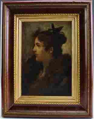 Fernand Toussaint 18731956 Portrait Oil Painting
