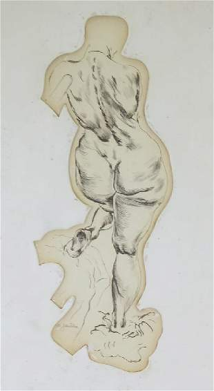 Max Jaediker 18801973 American Nude Art Drawing