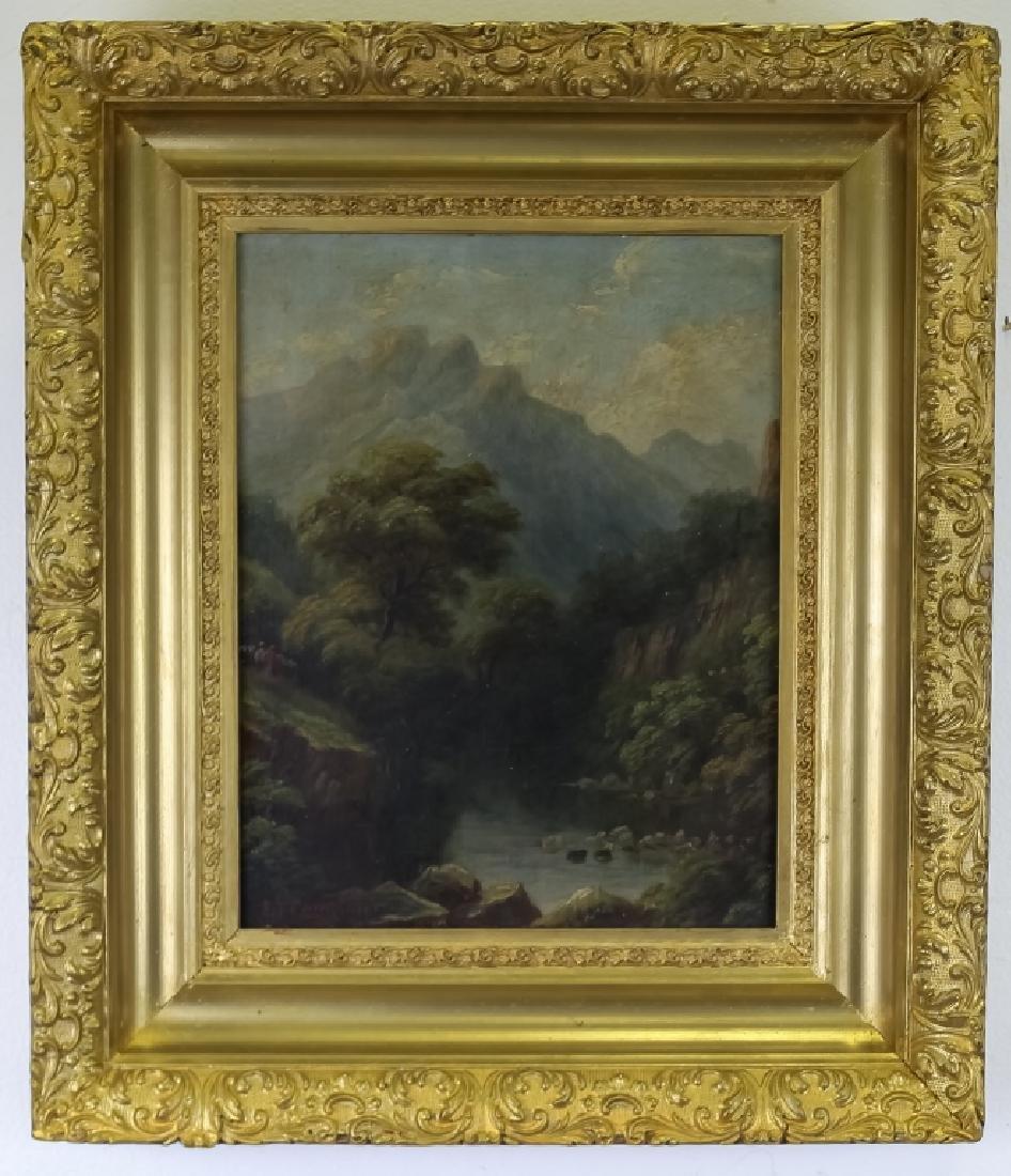 Signed ET Compton American Landscape Oil Painting