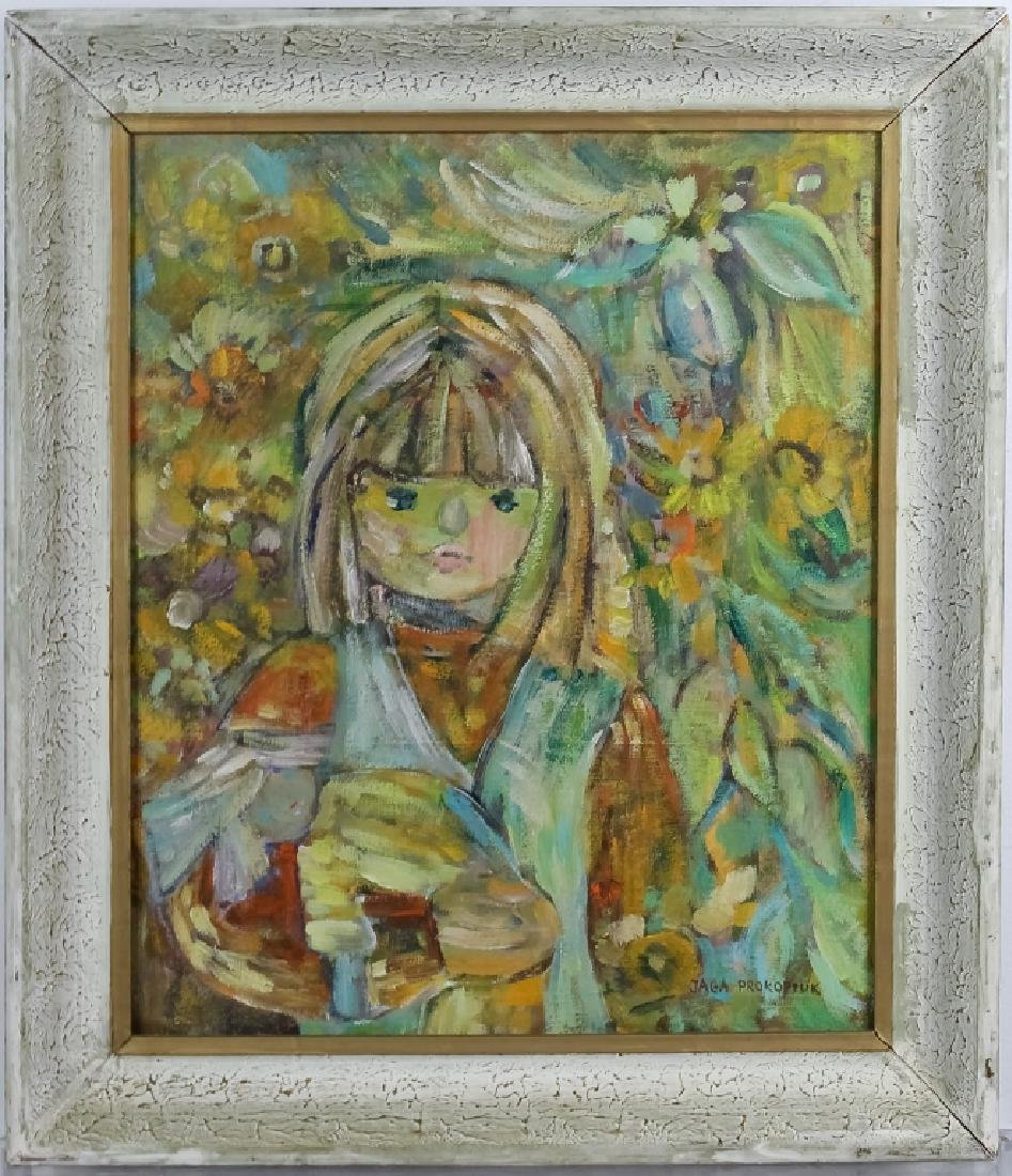 Jaga Prokopiuk Polish Modern Portrait Oil Painting