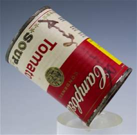 Andy Warhol Campbell's Tomato Soup Can HAND SIGNED