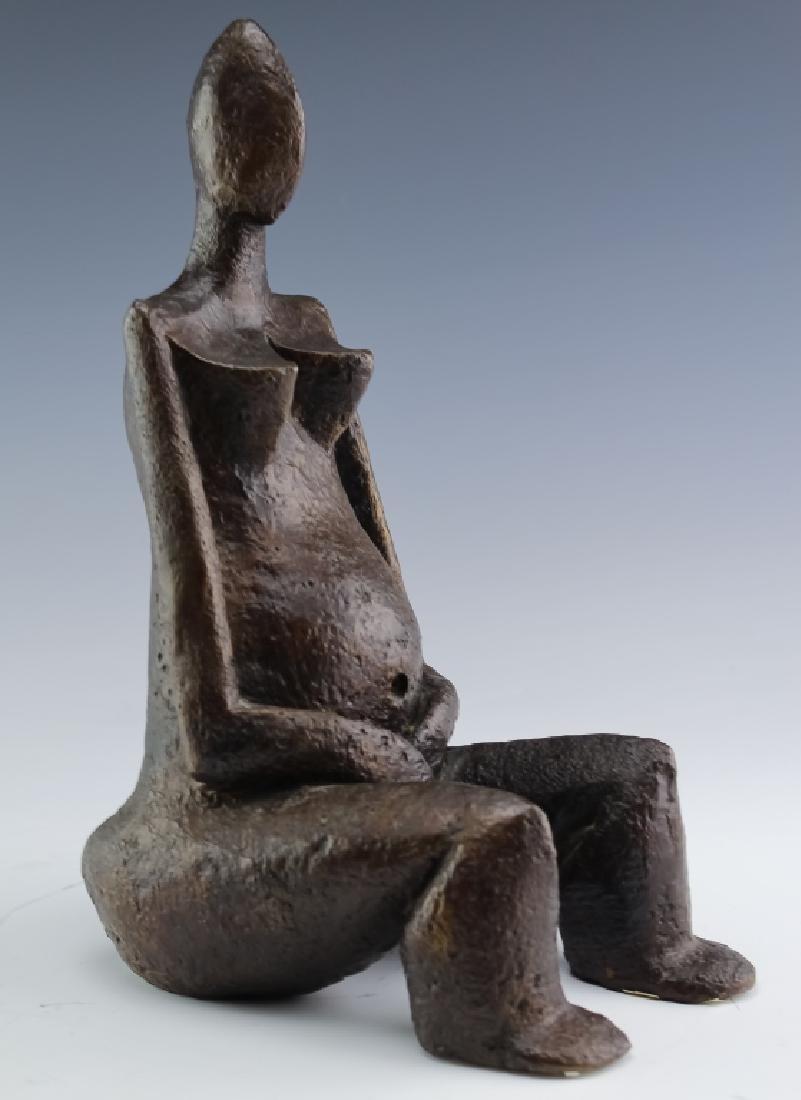 Sydney Alex Kumalo Modernist South African NUDE Bronze