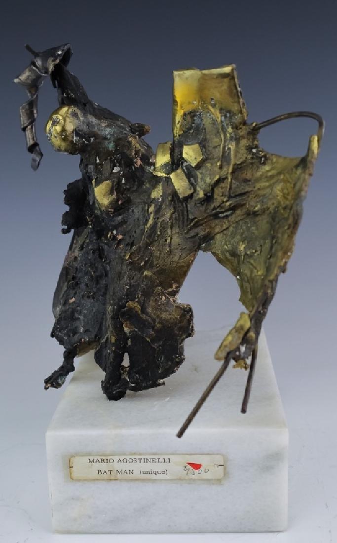 Mario Agostinelli American Brutalist Batman Sculpture