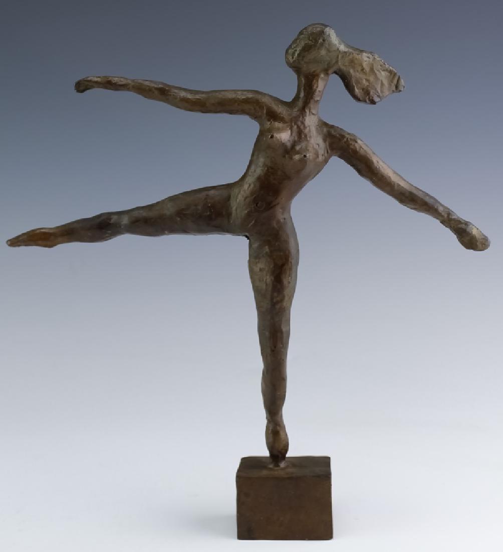 J James Akston American Modernist Bronze Art Sculpture