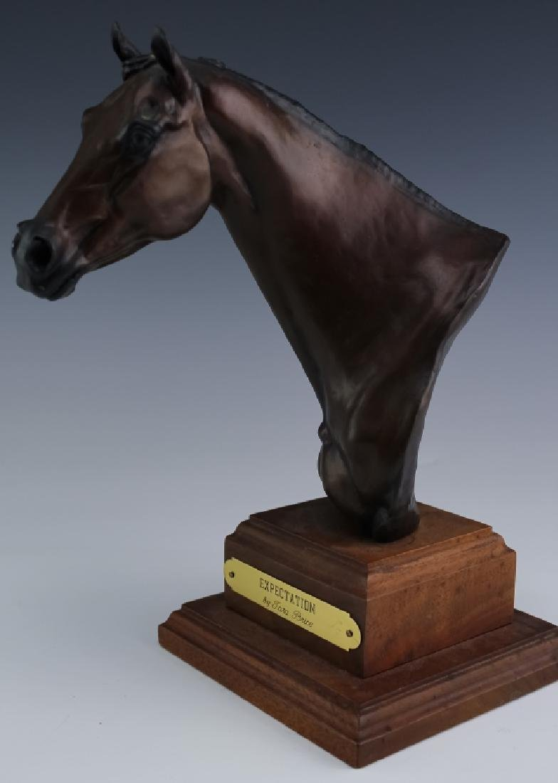 Tara Brice Expectation L/E Bronze Horse Bust Sculpture