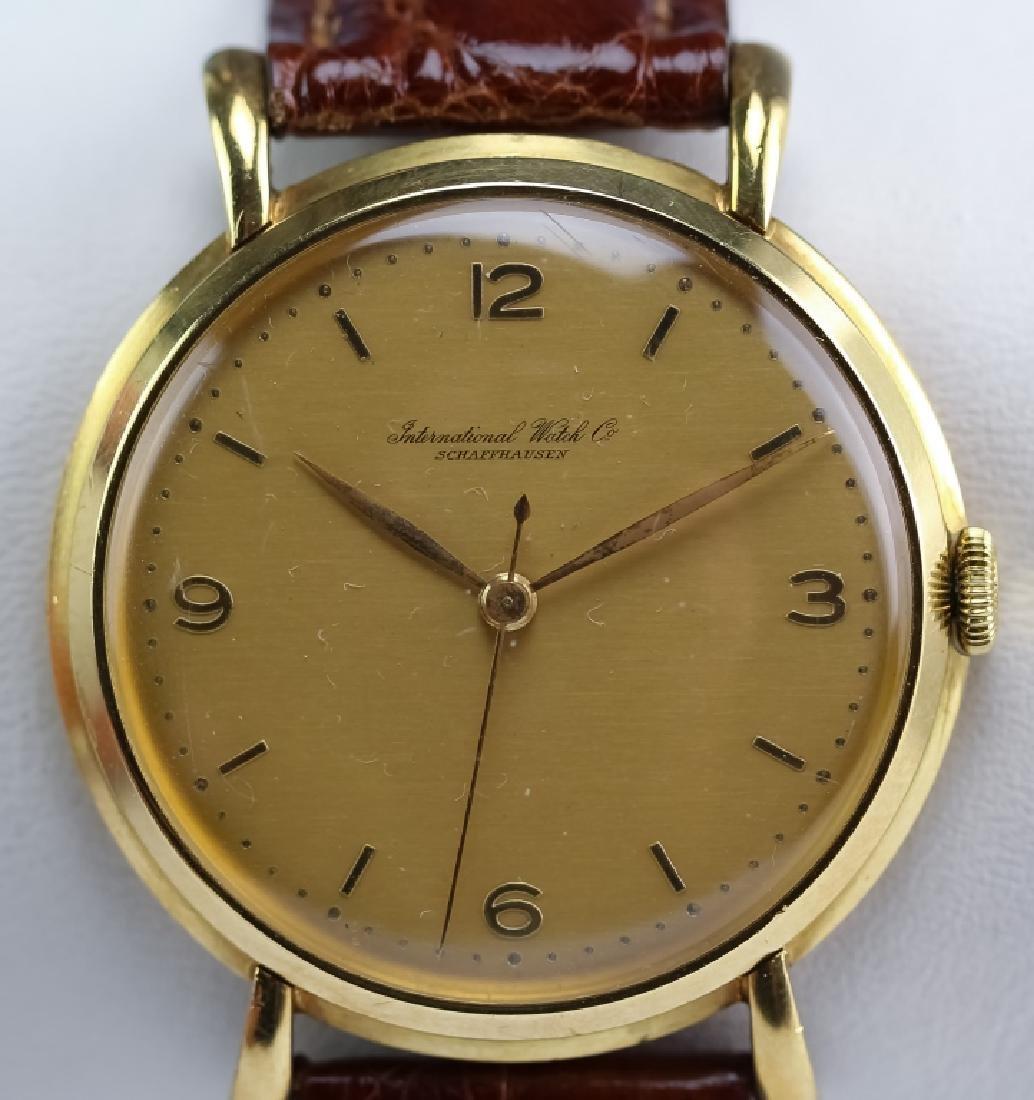 Working Vintage IWC 18k Gold Mens 36mm Dress Watch