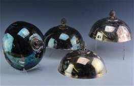 SET 4 Christofle Silver Plate Hotel Butlers Domes