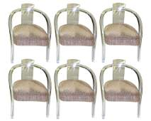 6 VTG Mid Century Modern MCM Lucite Acrylic Chairs