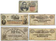 Lot Confederate, Fractional & Obsolete Currency