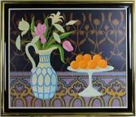 N Motta Oil On Canvas Still Life Fruit Painting