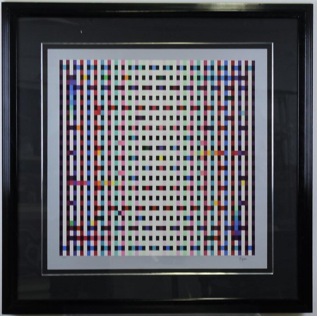 "Yaacov Agam ""Multimag"" Art Serigraph Silkscreen SIGNED"