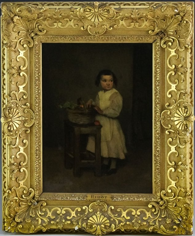 Theodule Augustin Ribot Girl Portrait Oil Painting