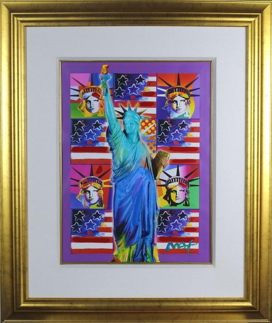Peter Max American Statue of Liberty Art Painting