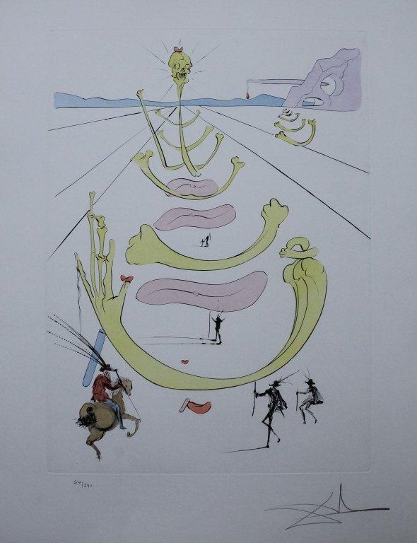 Authentic Salvador Dali Masque de la Mort Etching