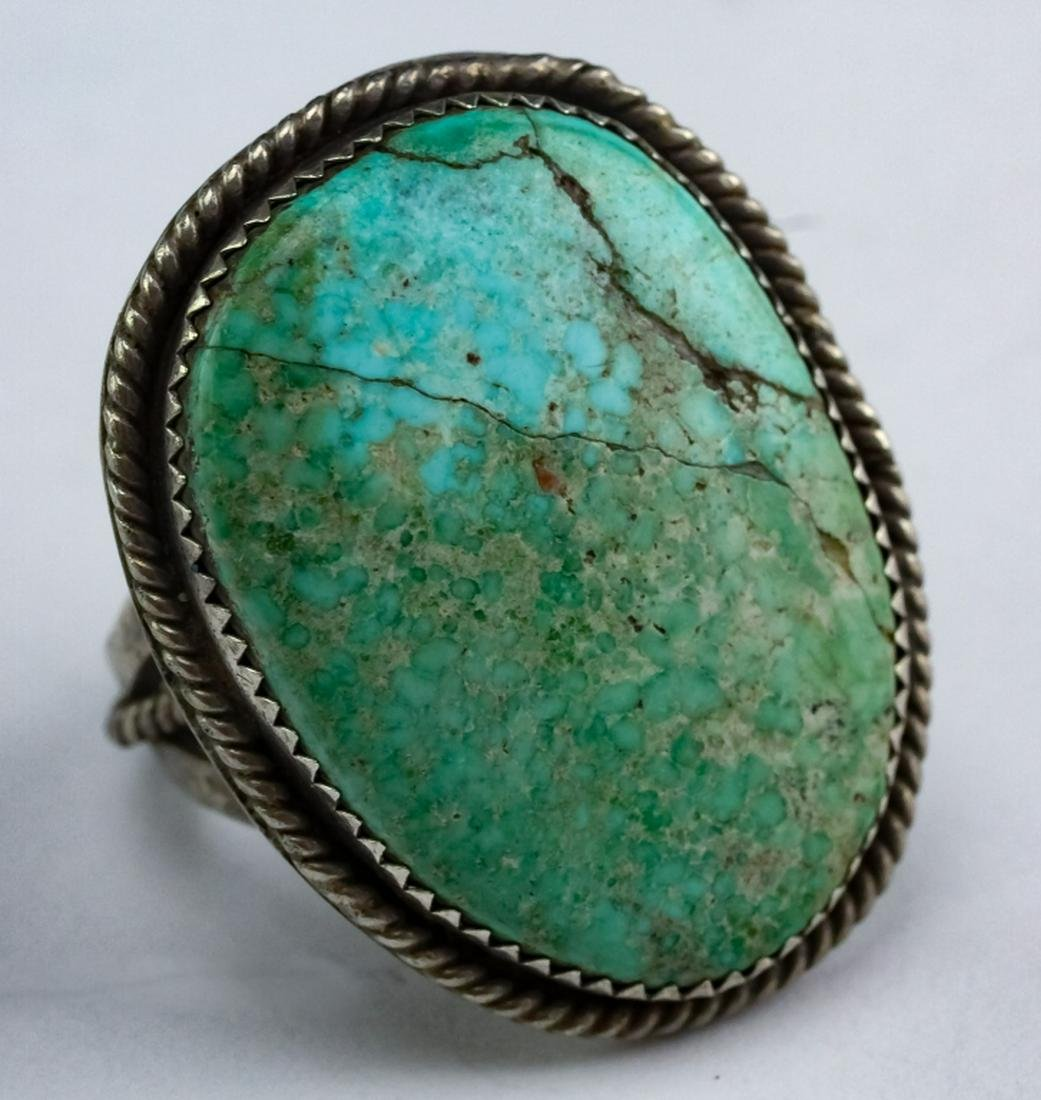 VTG Native American Sterling Silver Turquoise Ring