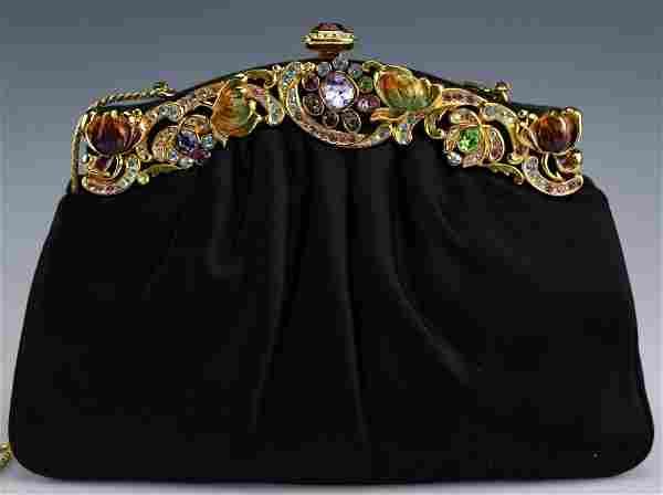 Judith Leiber Swarovski Crystal Handbag Purse Bag