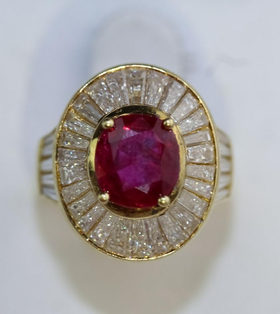 66d310a4d2d18 18K Gold 5.78ct TW Ruby & Diamond Ballerina Ring