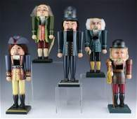 Collection Of 5 Milford L/E Hand Made Nutcrackers