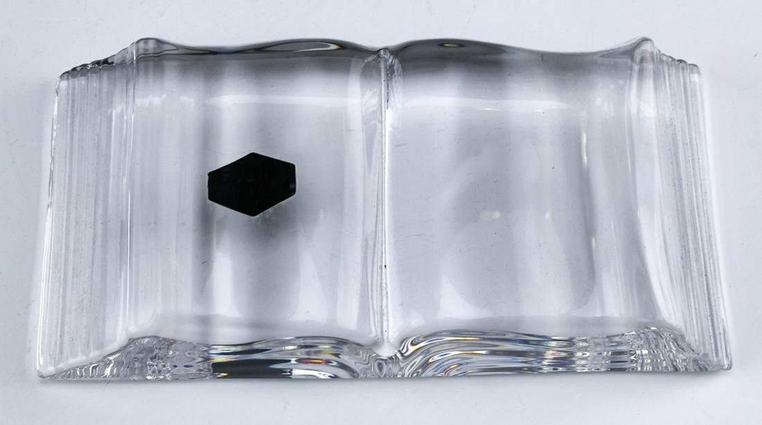 Saint Louis French Crystal Book Form Paperweight