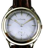 Vintage 1960s LeCoultre 14K Gold Fancy Lug Watch