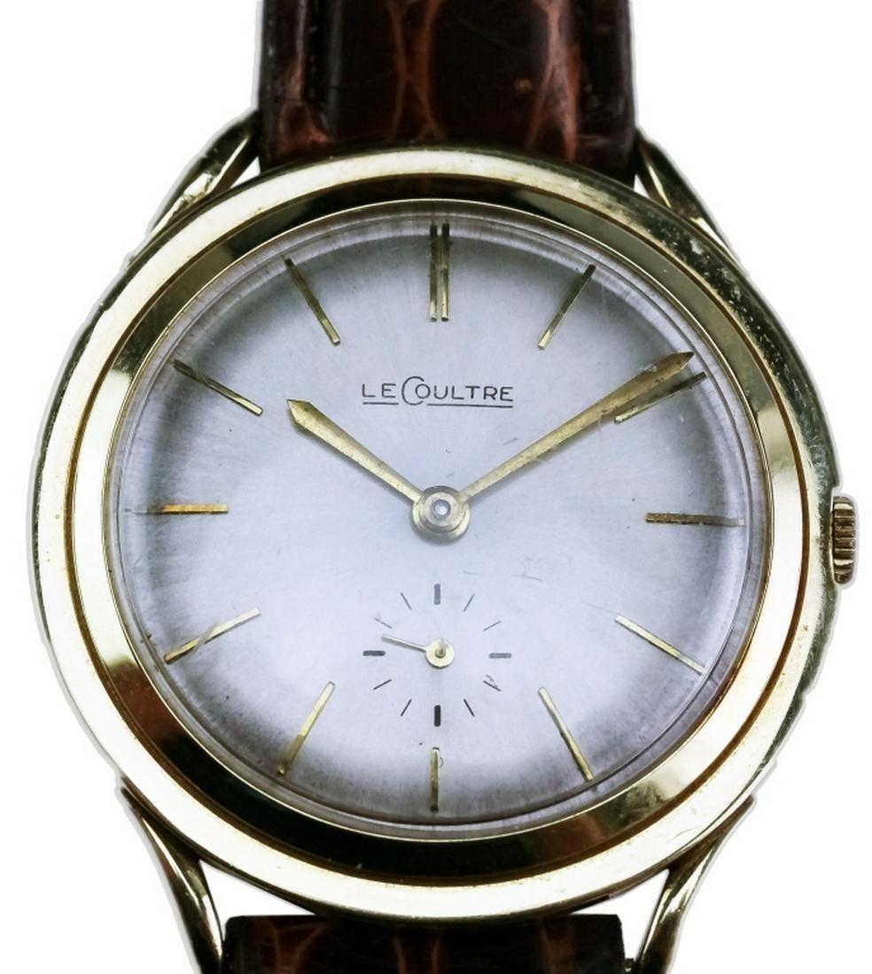 Vintage 1960's LeCoultre 14K Gold Fancy Lug Watch