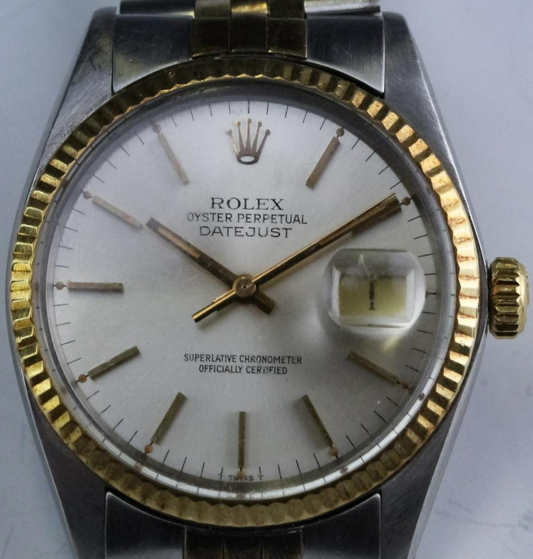 Men's Rolex Steel & Gold Date Just 16013 Watch
