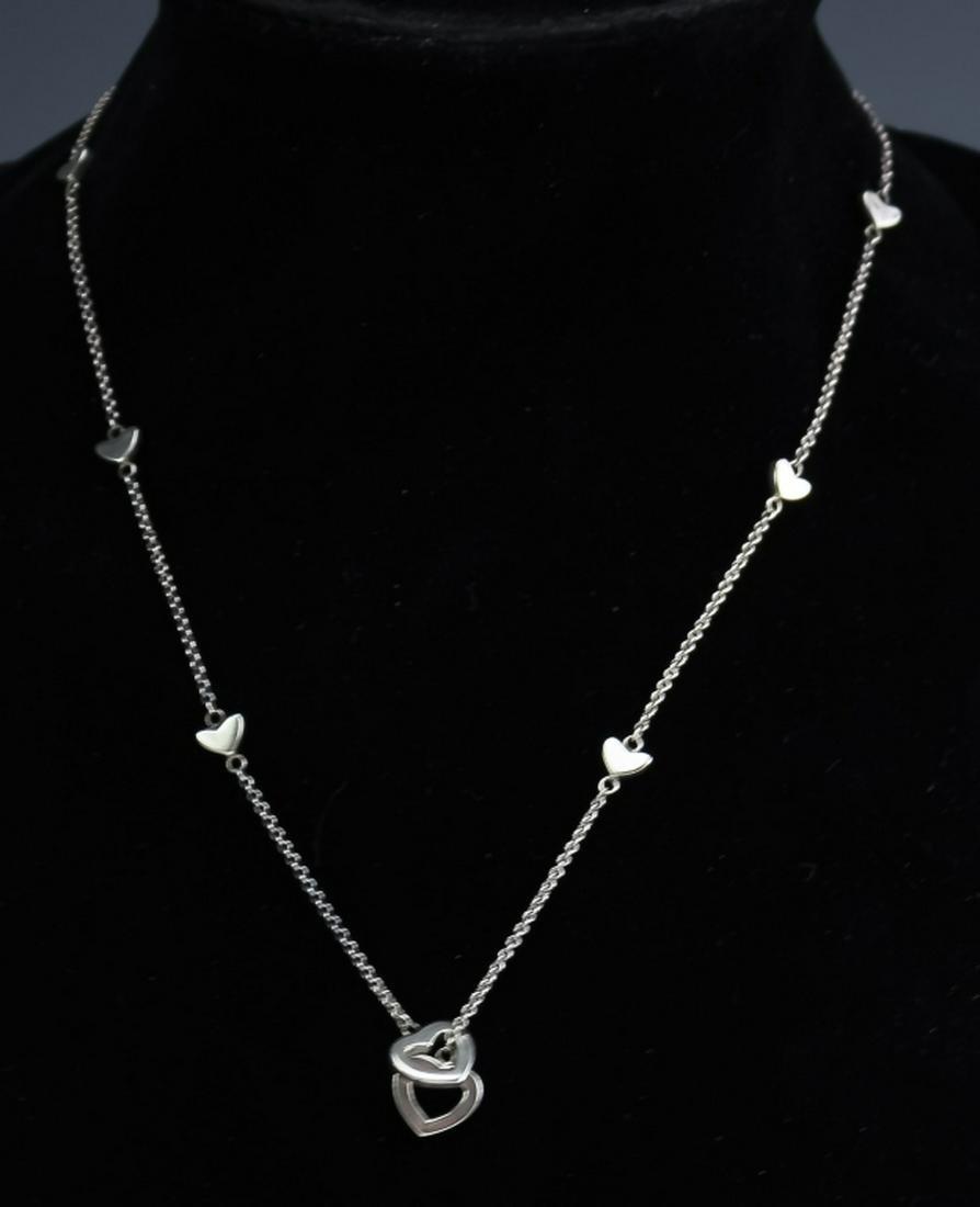 Tiffany & Co. Sterling Silver Heart Slide Necklace