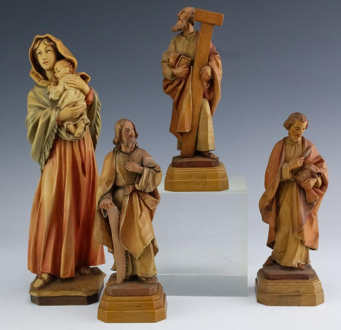 Lot 4 Anri Italian Carved Wood Religious Figurines