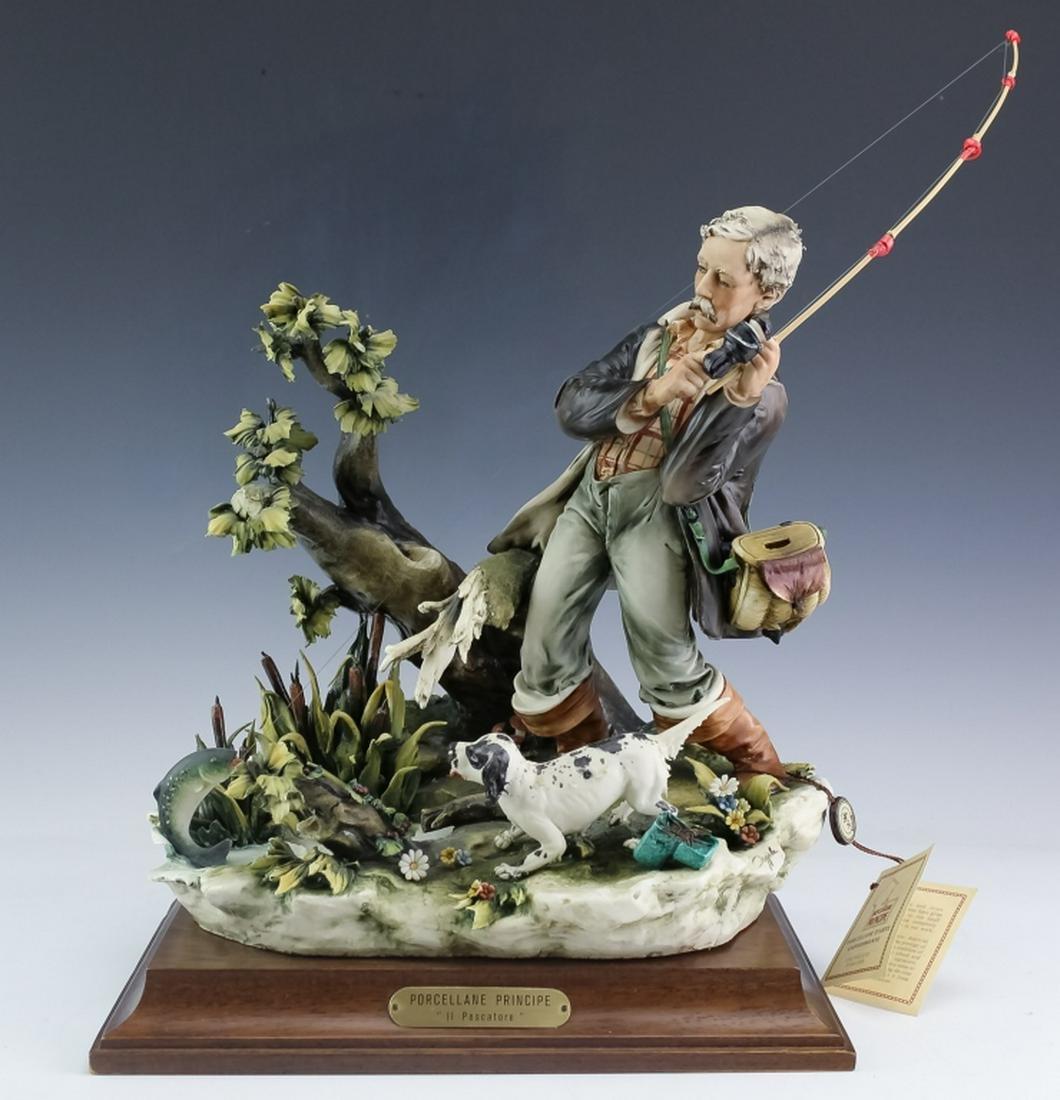 Capodimonte Porcelain Principe Il Pescatore Figure