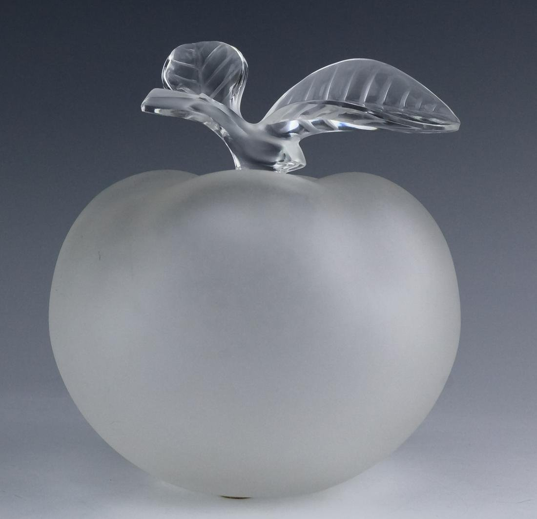 Lalique French Crystal Apple Pomme Perfum Bottle