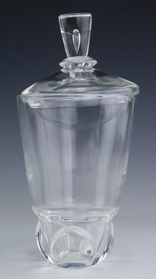 """STEUBEN Crystal Teardrop Art Glass Lidded Urn 11"""""""