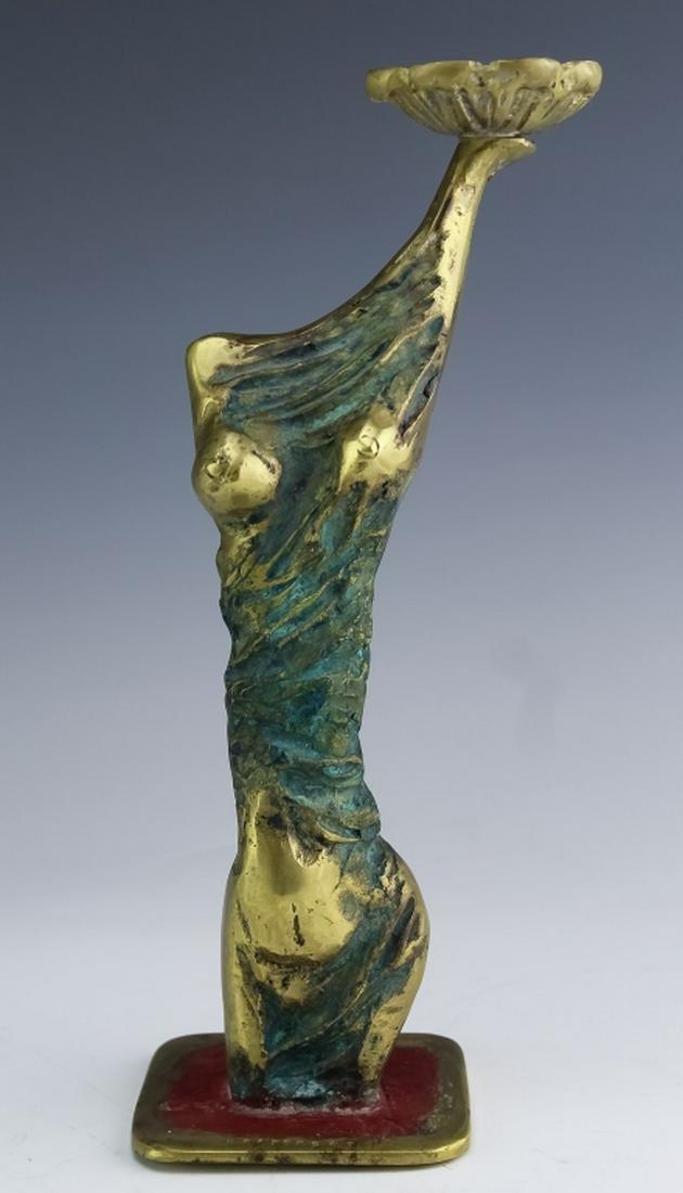 Henrique Radomsky Brutalist Bronze Woman Sculpture