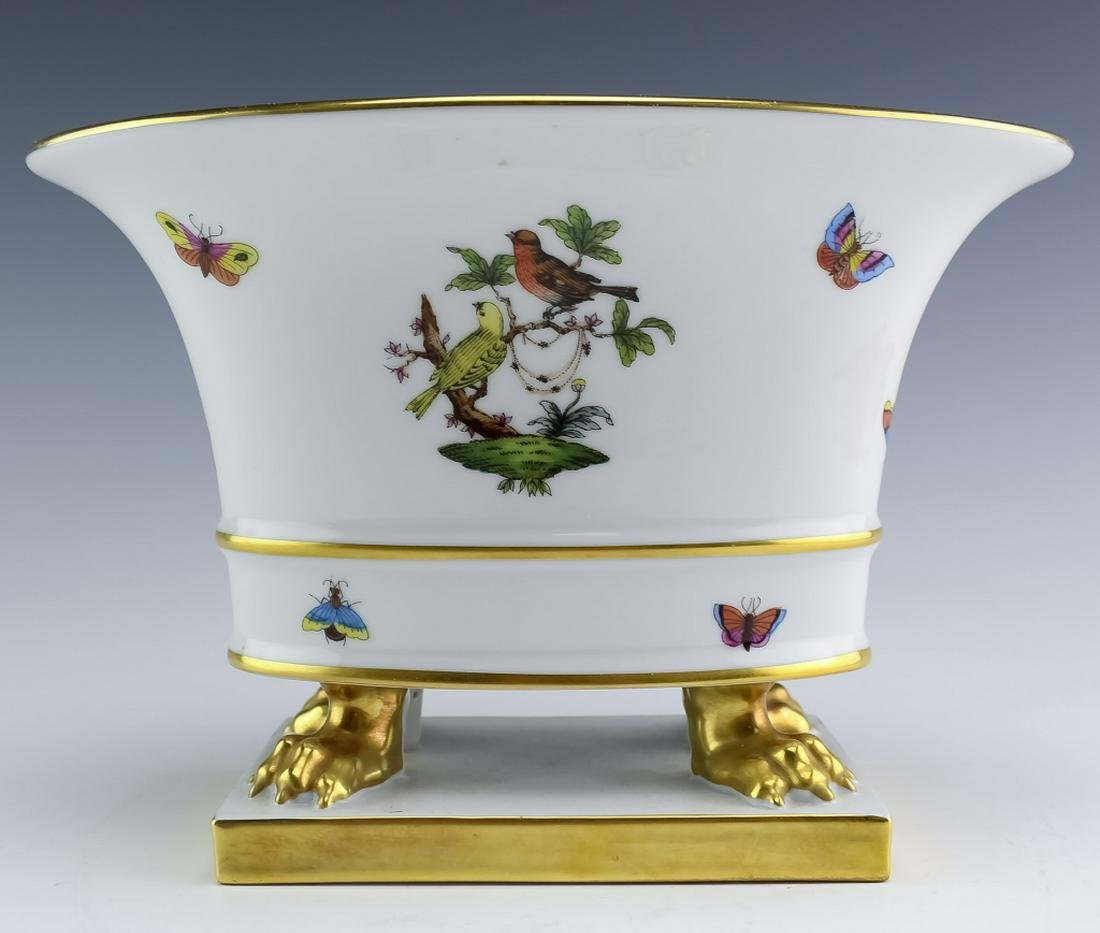 Herend Rothschild Bird Claw Footed Porcelain Urn