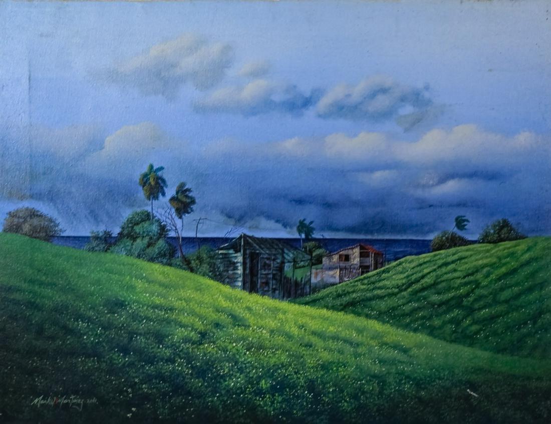 Maikel Martinez b1977 Cuban Landscape Oil Painting