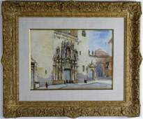 Anthony Thieme American Watercolor Art Painting