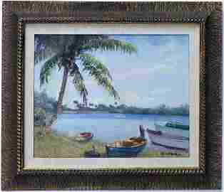 Albert Backus (1906-1991) American Florida Art Painting