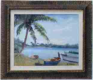 Albert Backus (1906-1991) American Florida Art Painting