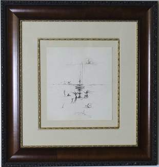 Salvador Dali India Ink Fountain ORIGINAL Drawing