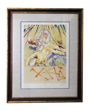 Salvador Dali Spain Limited Lithograph Litho Print