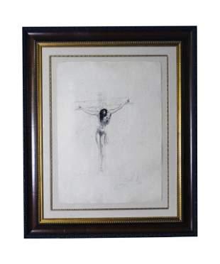 Salvador Dali CHRIST S/N L/E Etching Print w Cert