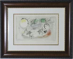 Marc Chagall The Rest Lithograph Print HAND SIGNED