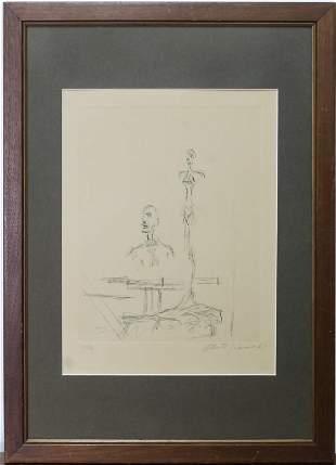 ALBERTO GIACOMETTI Dans L'Atelie Sculpture Etching