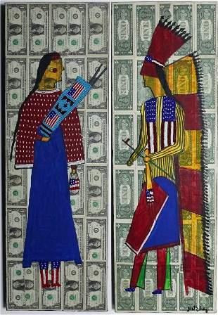 Pr Stanley Natchez b1954 Native American Paintings
