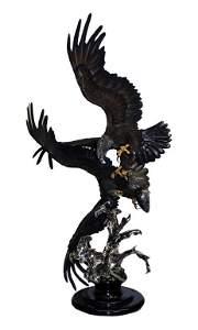 "Chester Fields American Bronze Eagle Sculpture 73"""