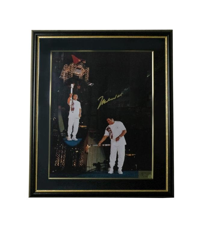 SIGNED Muhammad Ali Olympic Games Autograph Photo
