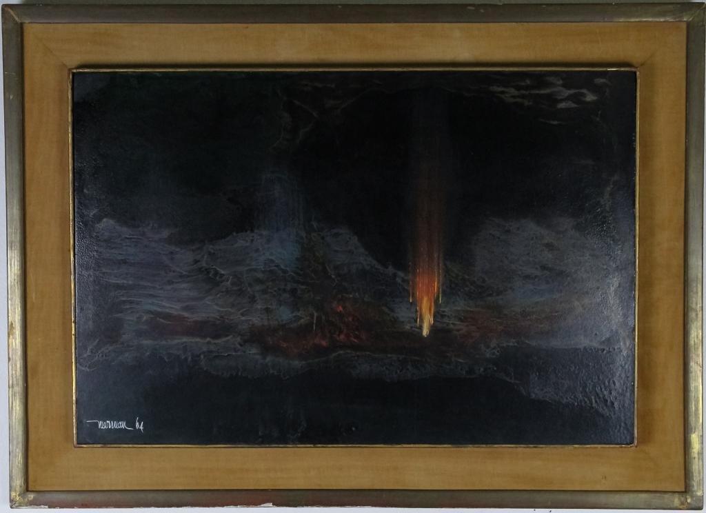Leonardo Nierman b.1932 Abstract Oil Art Painting