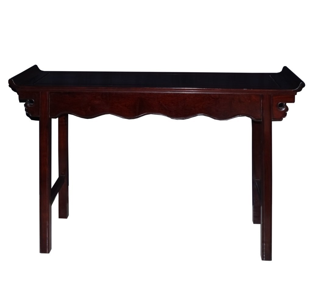 Vintage Chinese Carved Wood Alter Console Table