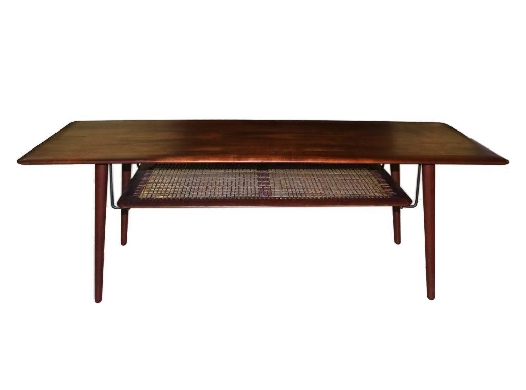John Stuart Danish Modern 2 Tier Wood Coffee Table