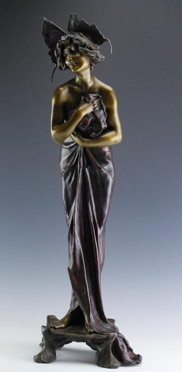 """Lucien Alliot 1877-1967 French Phalene 26"""" Bronze"""
