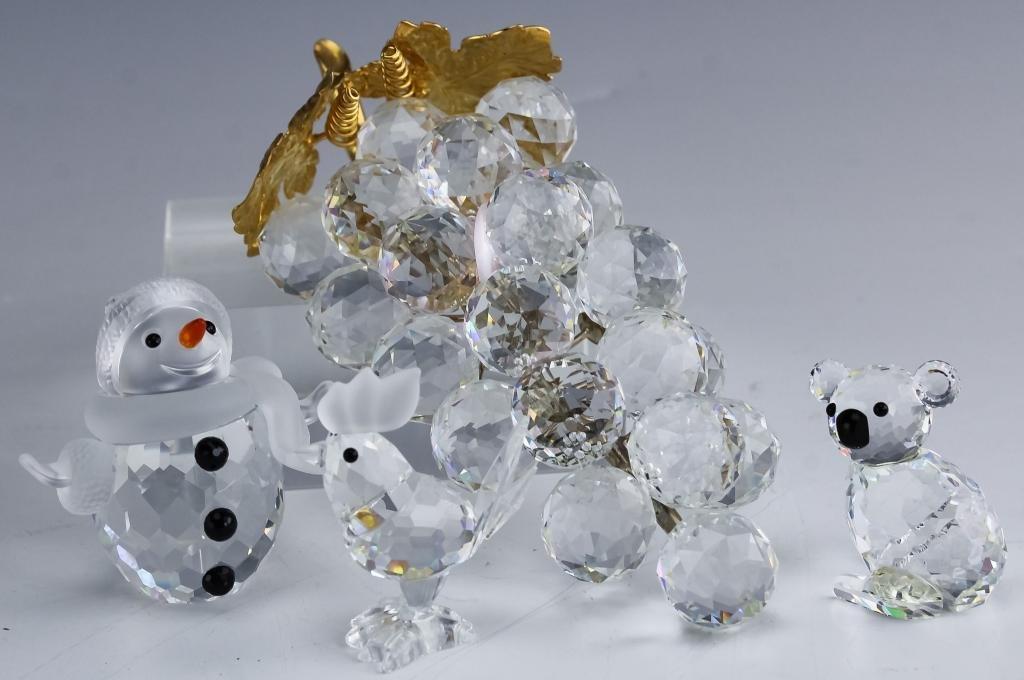 Collection of Swarovski Austrian Crystal Figurines